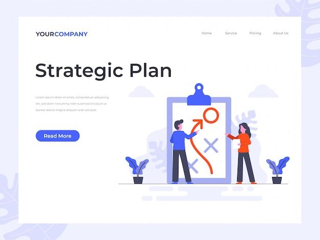 Página de destino do plano estratégico