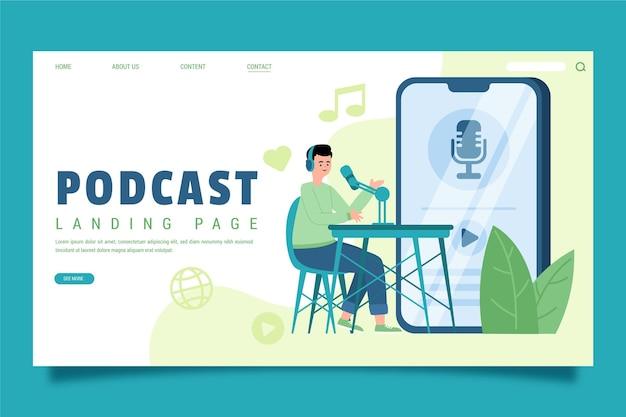 Página de destino do podcast
