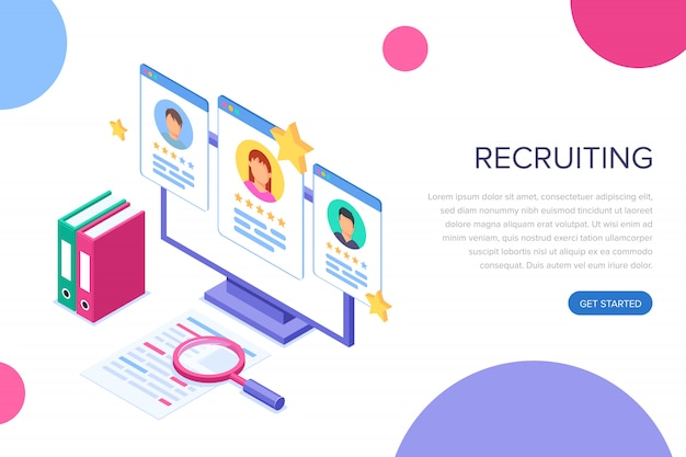 Página de destino do recrutamento