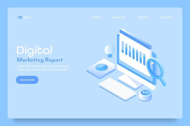 Página de destino do relatório de seo de marketing digital