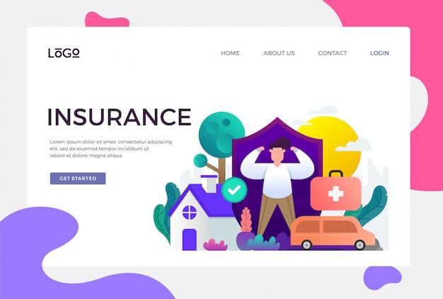 Página de destino do seguro