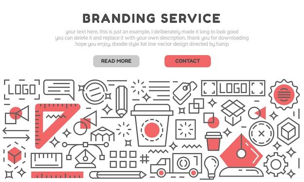 Página de destino do serviço de branding