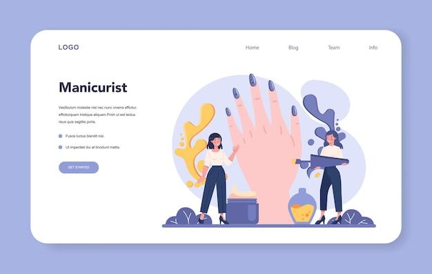 Página de destino do serviço de manicure