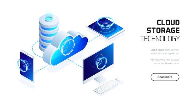 Página de destino do servidor de armazenamento em nuvem