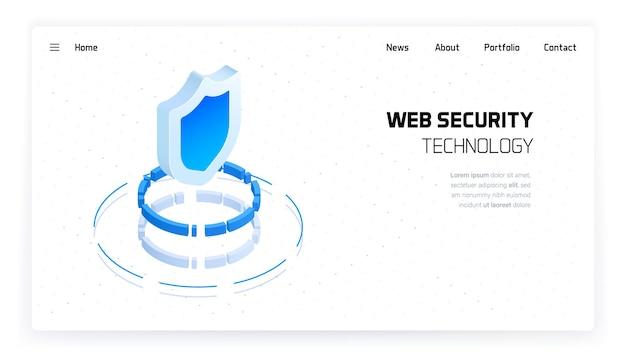 Página de destino do sistema de segurança do site