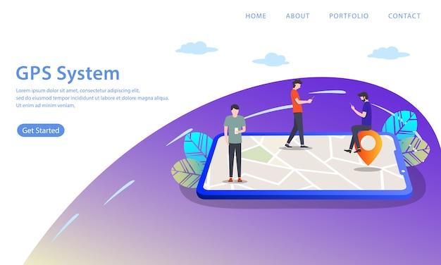 Página de destino do sistema gps