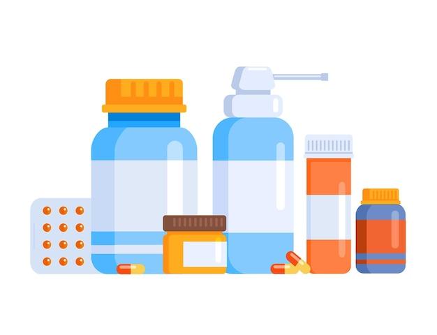 Página de destino do site da ilustração do vetor do medicamento da farmácia