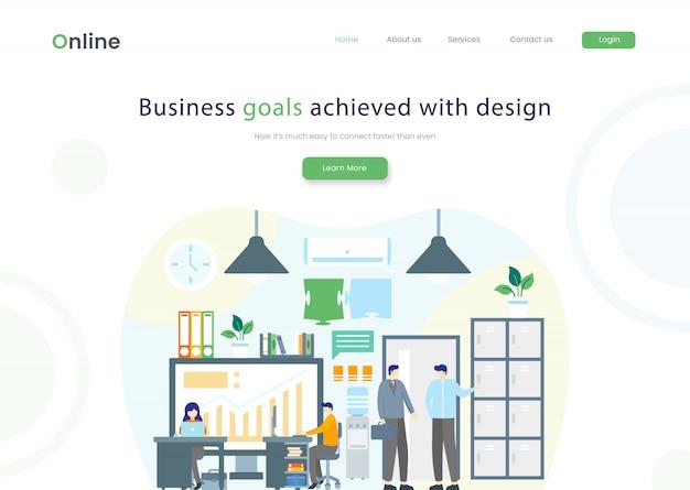Página de destino do site de negócios