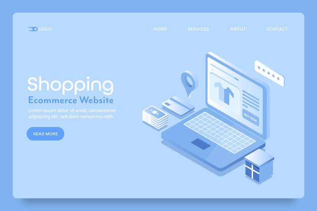 Página de destino do site do shopping ecomemrce