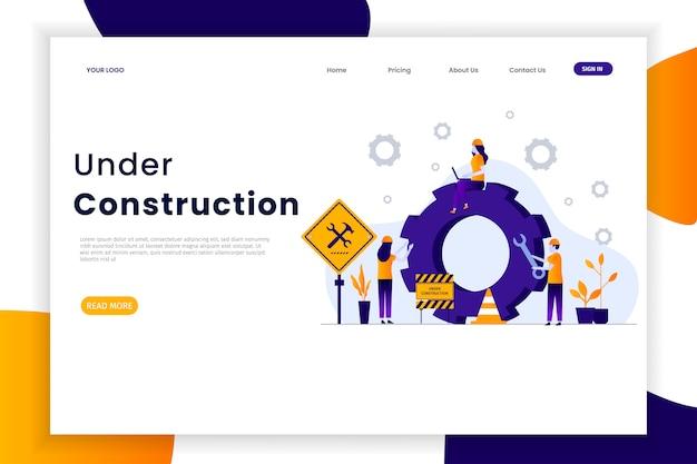 Página de destino do site em construção