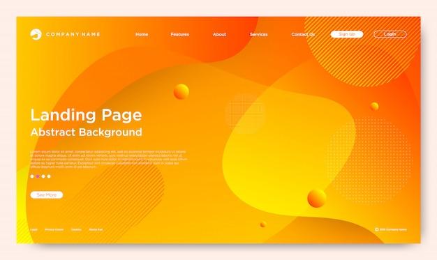 Página de destino do site