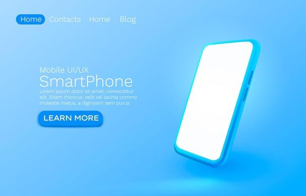 Página de destino do smartphone
