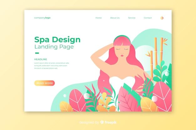 Página de destino do spa