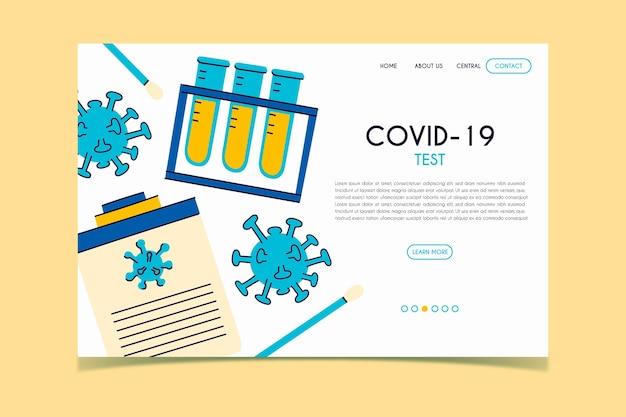 Página de destino do teste covid-19