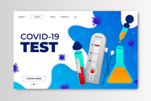 Página de destino do teste de coronavírus