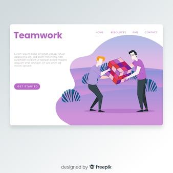 Página de destino do trabalho em equipe