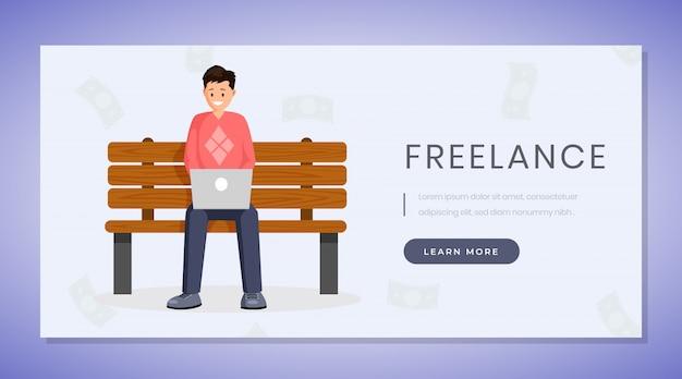 Página de destino do trabalho freelance