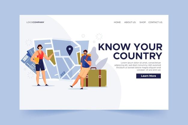 Página de destino do turismo local