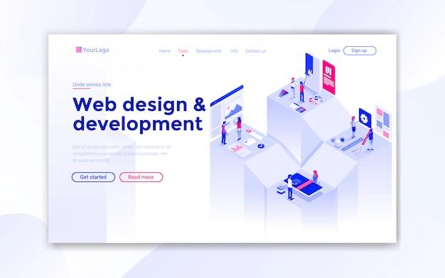 Página de destino do web design