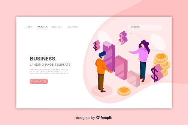 Página de destino do website de negócios