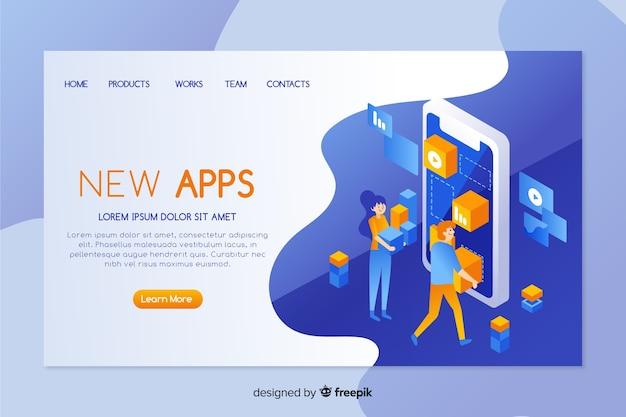 Página de destino dos aplicativos