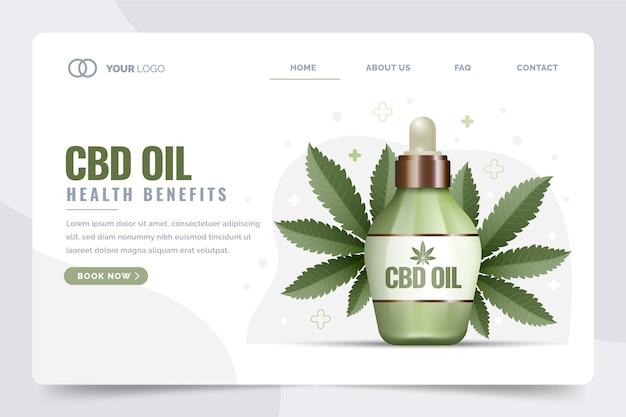 Página de destino dos benefícios de saúde do óleo cbd