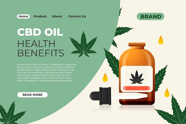 Página de destino dos benefícios do óleo cbd