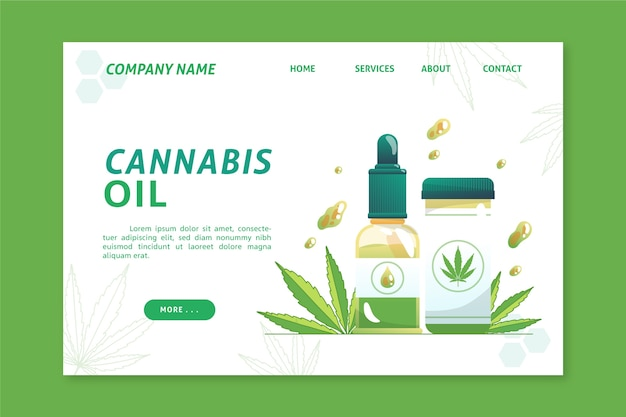 Página de destino dos benefícios do óleo de cannabis