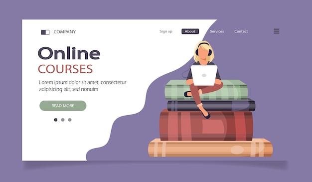 Página de destino dos cursos online à distância