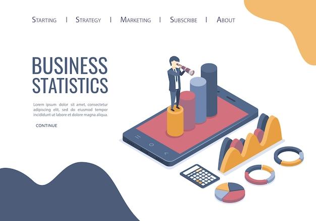 Página de destino dos dados de análise