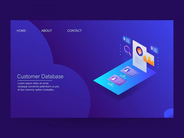Página de destino dos dados do cliente