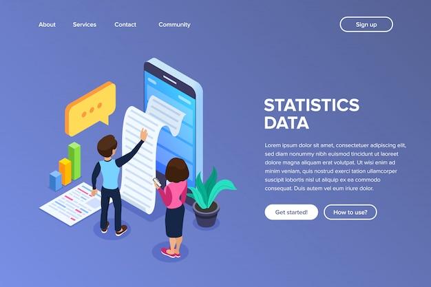 Página de destino dos dados estatísticos