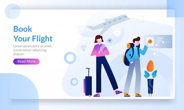 Página de destino dos destinos de viagem