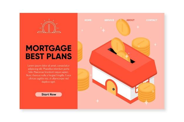 Página de destino dos melhores planos de hipoteca
