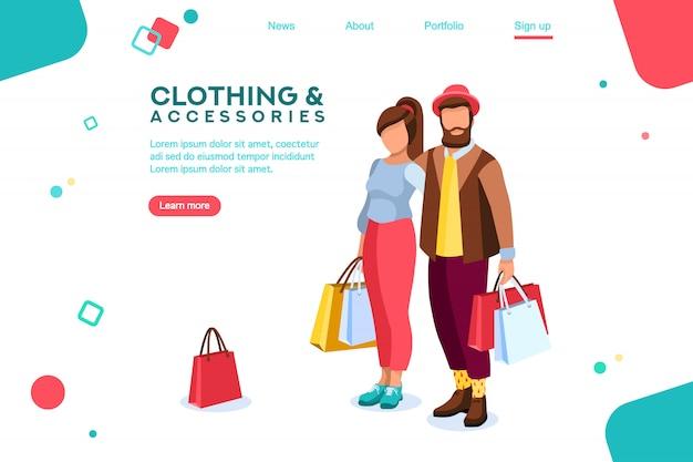 Página de destino dos parceiros love for purchase