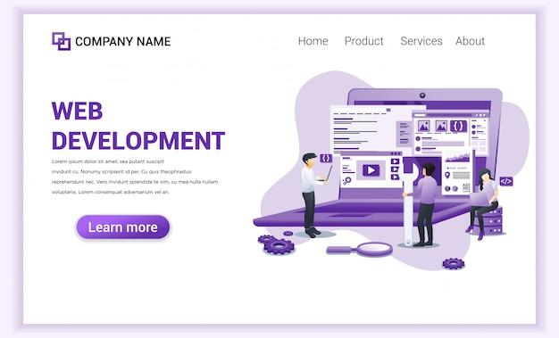 Página de destino dos programadores de desenvolvimento web