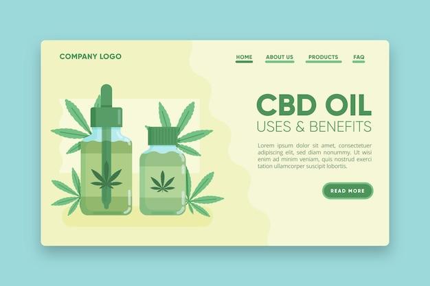 Página de destino dos usos e benefícios do óleo cbd