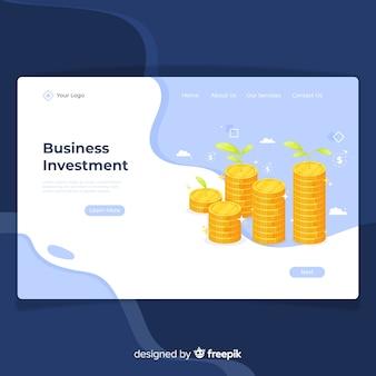 Página de destino econômica