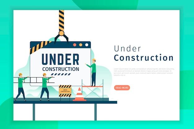 Página de destino em construção