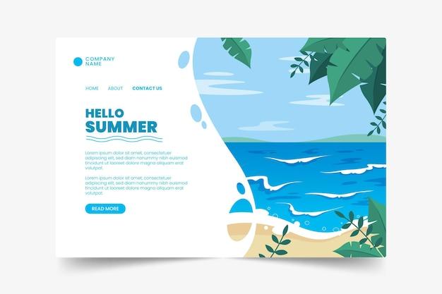 Página de destino exótica no verão