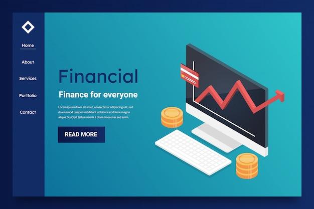 Página de destino financeira