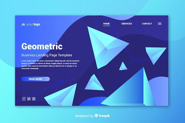 Página de destino formas geométricas 3d