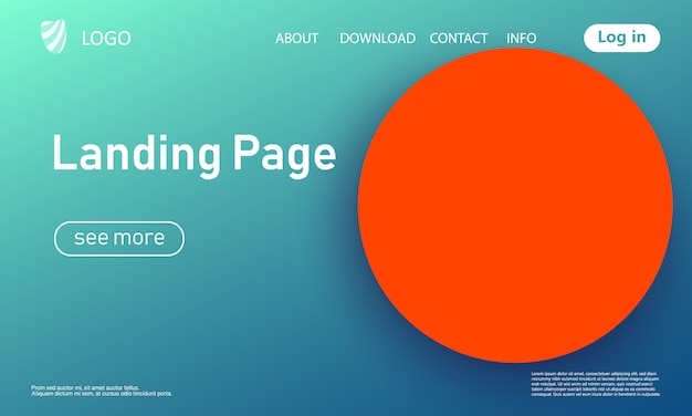Página de destino. fundo geométrico. cobertura abstrata mínima. papel de parede colorido criativo. cartaz gradiente da moda. ilustração.