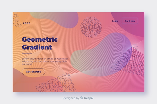 Página de destino geométrica