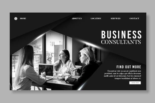 Página de destino geral de negócios