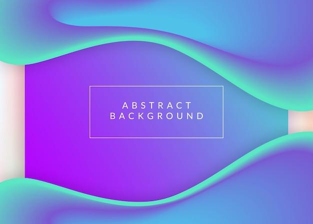Página de destino. malha de gradiente vívida. pano de fundo 3d holográfico com mistura na moda moderna. site vibrante, layout de interface do usuário. página inicial com elementos dinâmicos líquidos e formas fluidas.