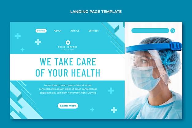 Página de destino médica de design plano