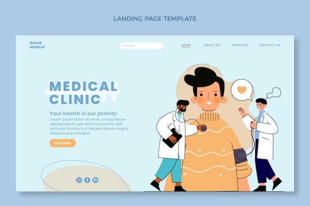 Página de destino médica desenhada à mão