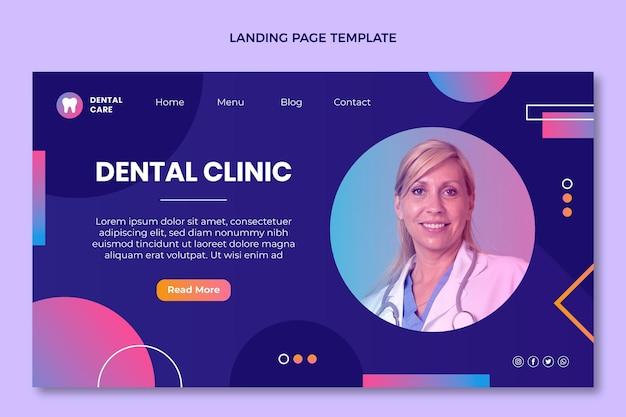 Página de destino médica do gradiente