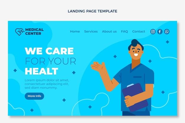 Página de destino médica plana